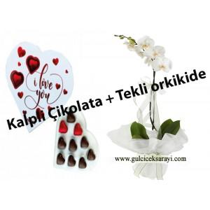 orkideli çikolata